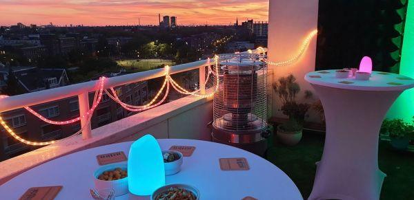 Feest op balkon