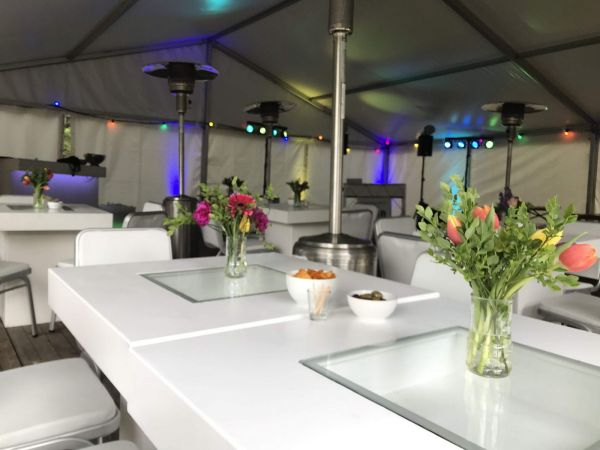 Luxe inrichting feesttent thuis