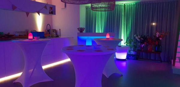 mooie verlichting bij feest