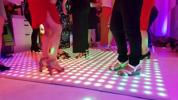 Verlichte dansvloer thuis